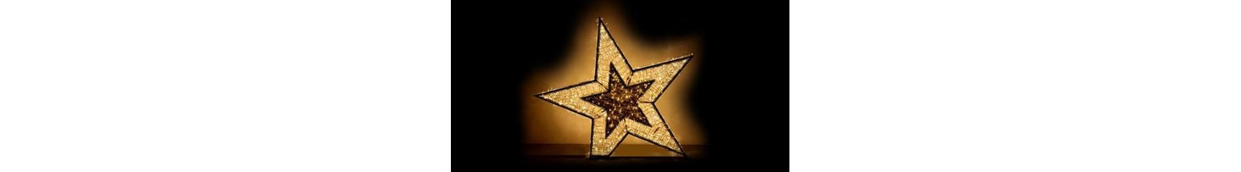 Χριστουγεννιάτικα φωτιζόμενα αστέρια διακόσμησης