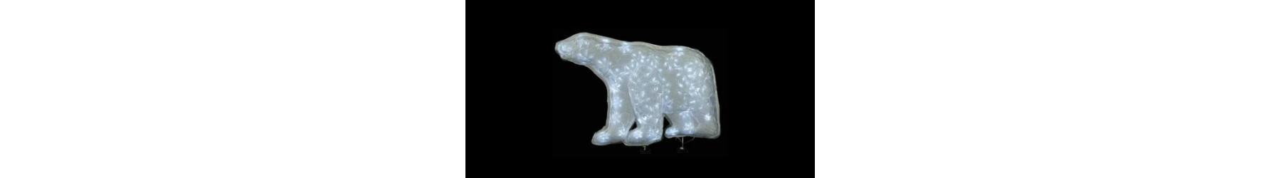 Αρκούδες & Πιγκουίνοι φωτιζόμενοι για Χριστουγεννιάτικη διακόσμηση