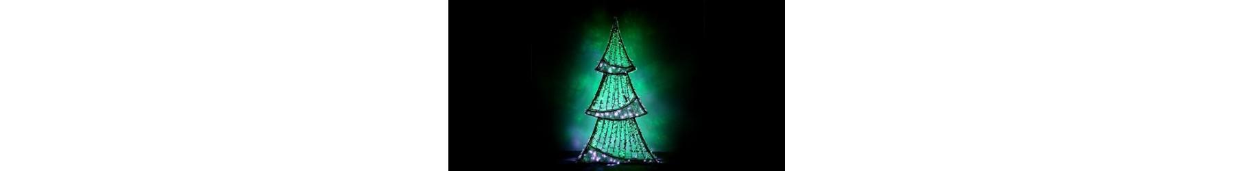 Φωτιζόμενα Χριστουγεννιάτικα δεντράκια διακόσμησης