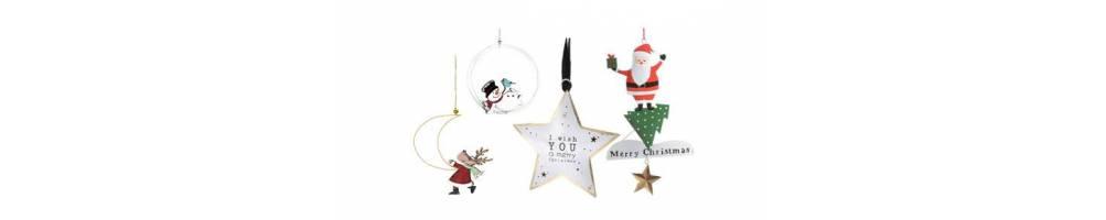 Μεταλλικά στολίδια διακόσμησης σε Χριστουγεννιάτικα σχέδια