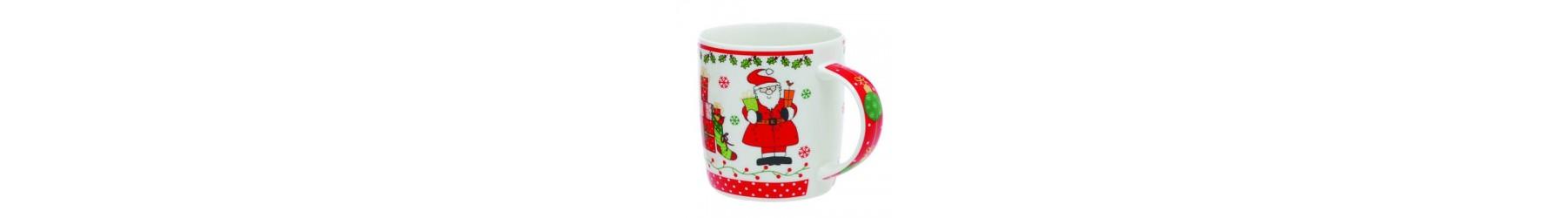 Κούπες με Χριστουγεννιάτικα σχέδια, σε διάφορα μεγέθη και χρώματα