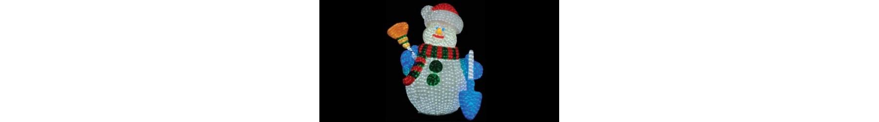 Φωτιζόμενοι Χριστουγεννιάτικοι χιονάνθρωποι διακόσμησης