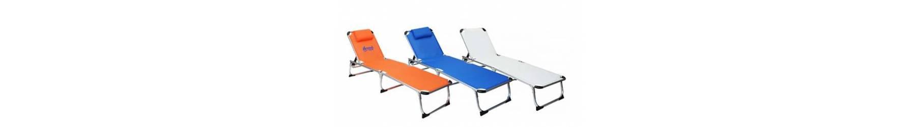 Ξαπλώστρες πτυσσόμενες για παραλία και camping